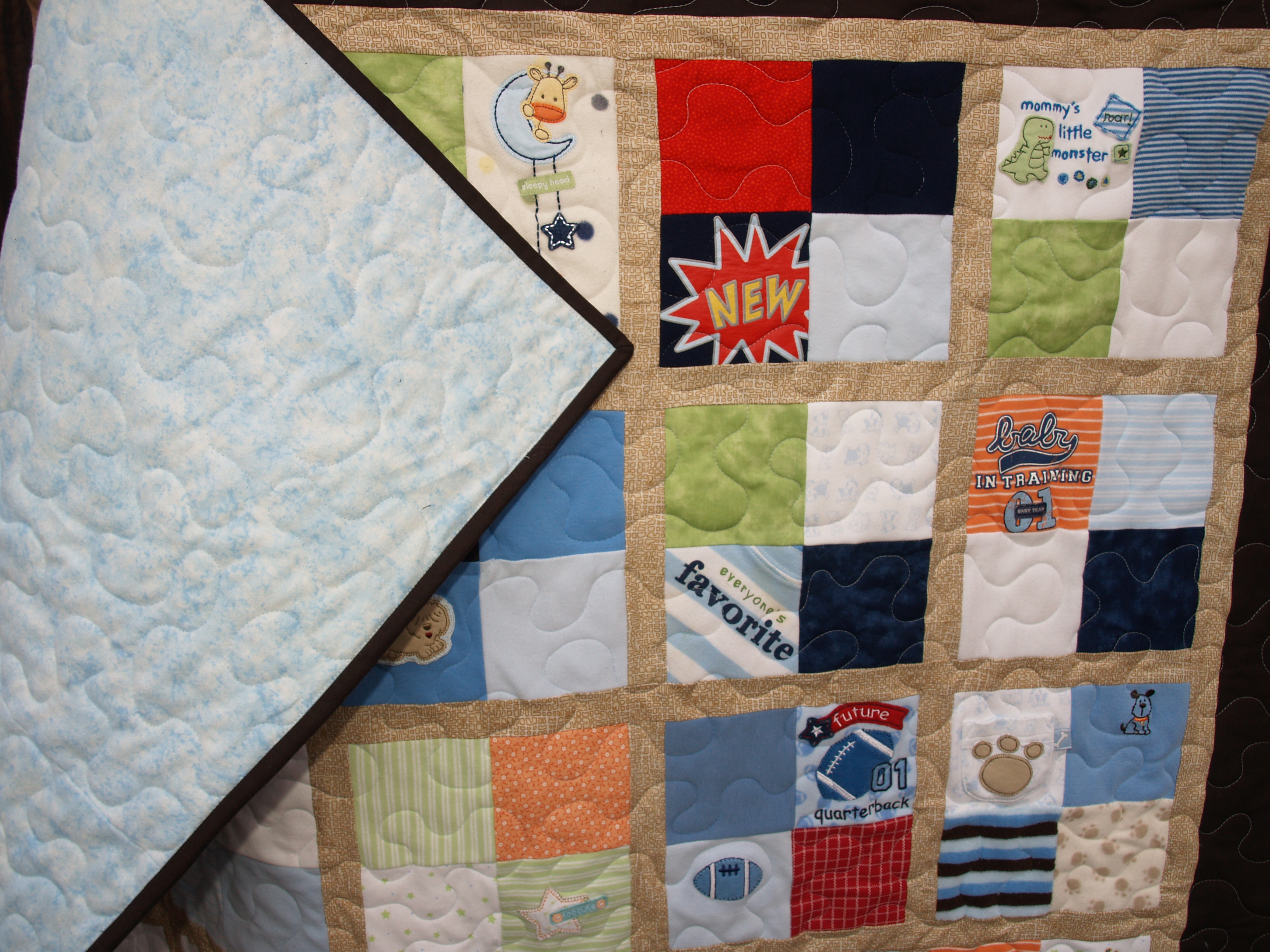 Baby Clothes Quilt – retrohipmama : baby clothes quilt pattern - Adamdwight.com