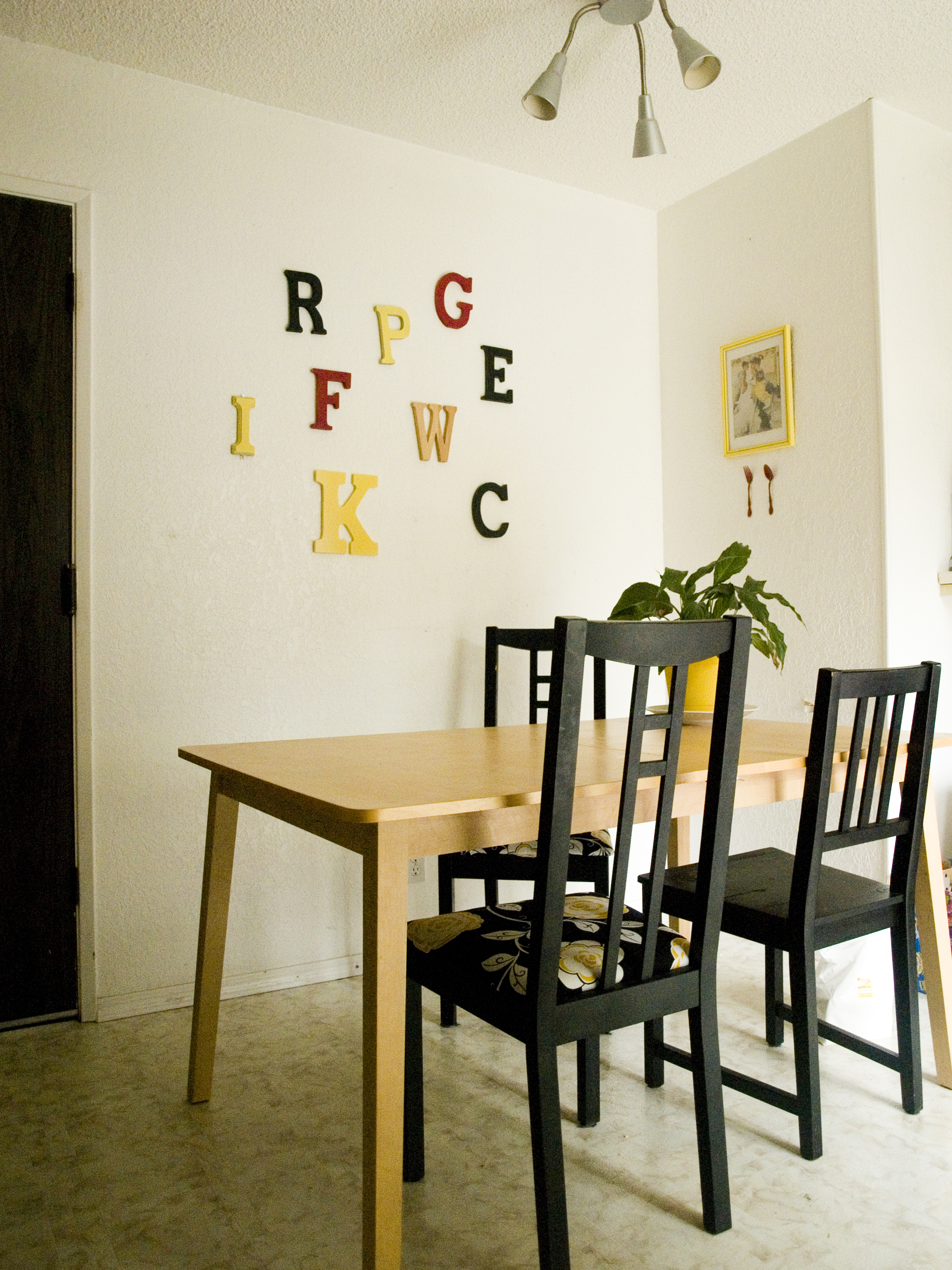 Swell o yellow dining room upgrade retrohipmama for Dining room upgrades