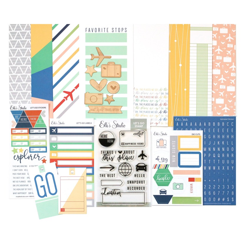EllesStudio_May2018_LetsGoTravelersNotebookKit